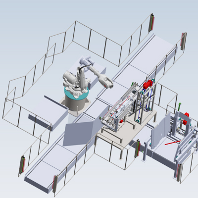 Robotic Destacker and Re-palletizer